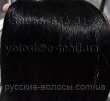 Слов'янські волосся для капсульного нарощування. Чорні 40 см