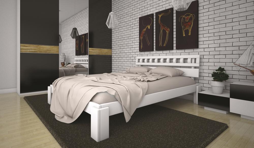 Кровать ТИС МАЛЬВІНА 1 90*190 дуб