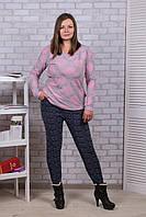 Женские цветные штаны с начёсом Nanhai A872-4 6XL. Размер 52-56.