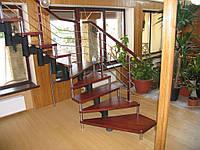 """Изготовление и монтаж лестниц для дома на цепном косоуре """"под ключ"""""""