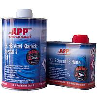 Лак бесцветный акриловый APP 2K HS Acryl Klarlack Spezial 1л + отвердитель 0,5л