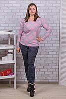 Женские цветные штаны с начёсом Nanhai A872-5 6XL-R. Размер 52-56.