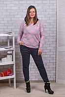 Женские цветные штаны с начёсом Nanhai A872-6 5XL-R. Размер 50-54.