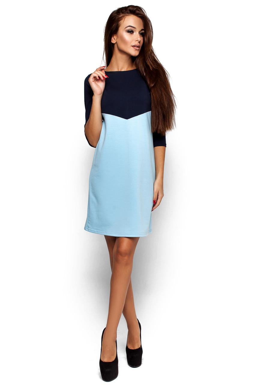 Жіноче повсякденне темно-синє / голубе плаття Ashley