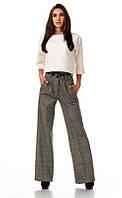 Утепленные женские брюки. Елочка бежевая