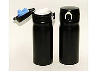 Термокружка 350 мл. цвет черный, термос питьевой с поилкой