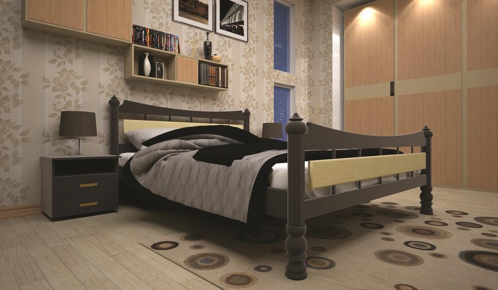Кровать ТИС МОДЕРН 4 140*200 дуб