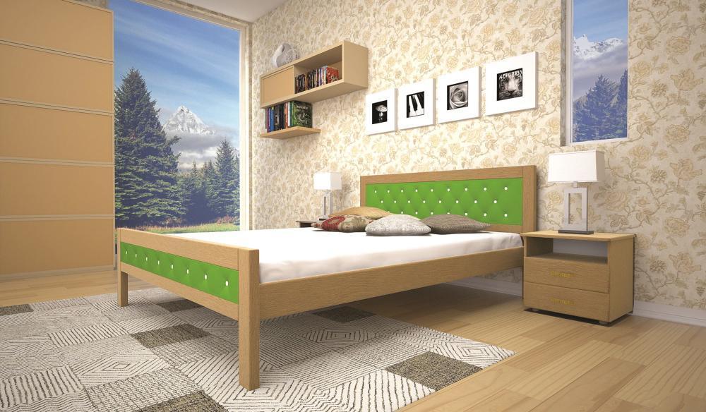 Кровать ТИС МОДЕРН 6 120*190 дуб