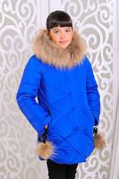 Красивая теплая куртка для девочек