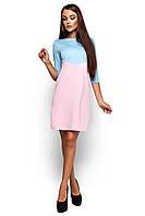 Жіноче повсякденне голубе / рожеве плаття Ashley