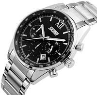 Кварцевые мужские наручные часы Skmei 9096 Tandem с датой