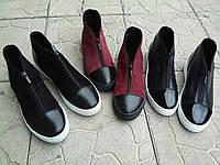 Модные ботинки Б-4020 из натуральной замши