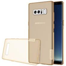 Чехол накладка силиконовый TPU Nillkin Nature 0.6 мм для Samsung Galaxy Note 8 коричневый