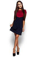 Жіноче повсякденне червоне / темно-синє плаття Ashley