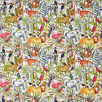 Ткань для штор в детскую King of the jungle My world, фото 1