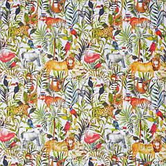 Ткань для штор в детскую King of the jungle My world