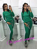 Двухцветный женский спортивный костюм t-20539
