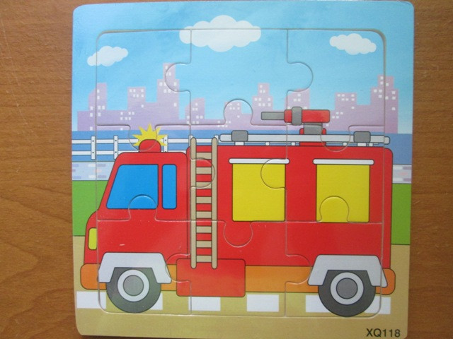"Пазл на 9 елементів ""Пожежна машина"""