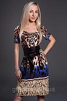Элегантное платье прямого покроя
