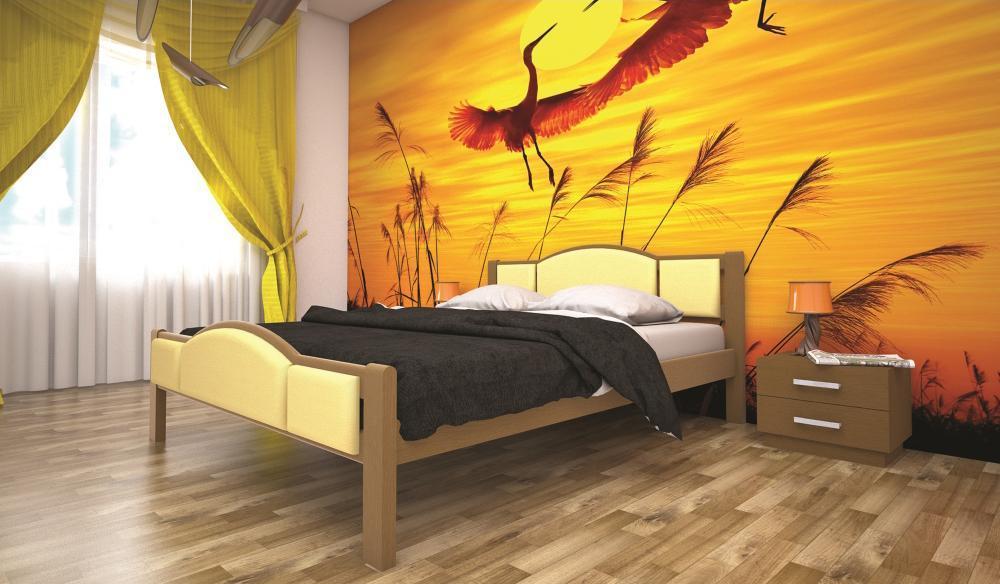 Кровать ТИС ФАНТАЗІЯ 1 90*200 дуб