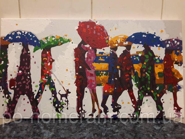 Картина по номерам Разноцветный дождь отзыв