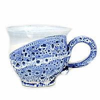 Чашка чайная керамическая ручной работы Большая 450мл 9563