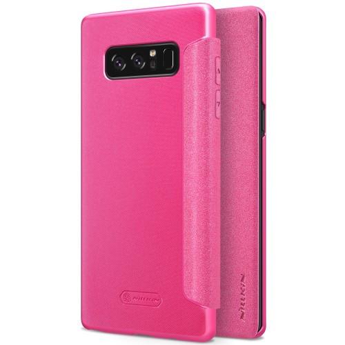 Чехол книжка Nillkin Sparkle Series для Samsung Galaxy Note 8 красный