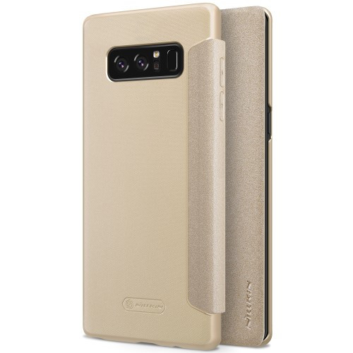 Чехол книжка Nillkin Sparkle Series для Samsung Galaxy Note 8 золотистый