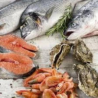 Свежемороженная рыба и морепродукты