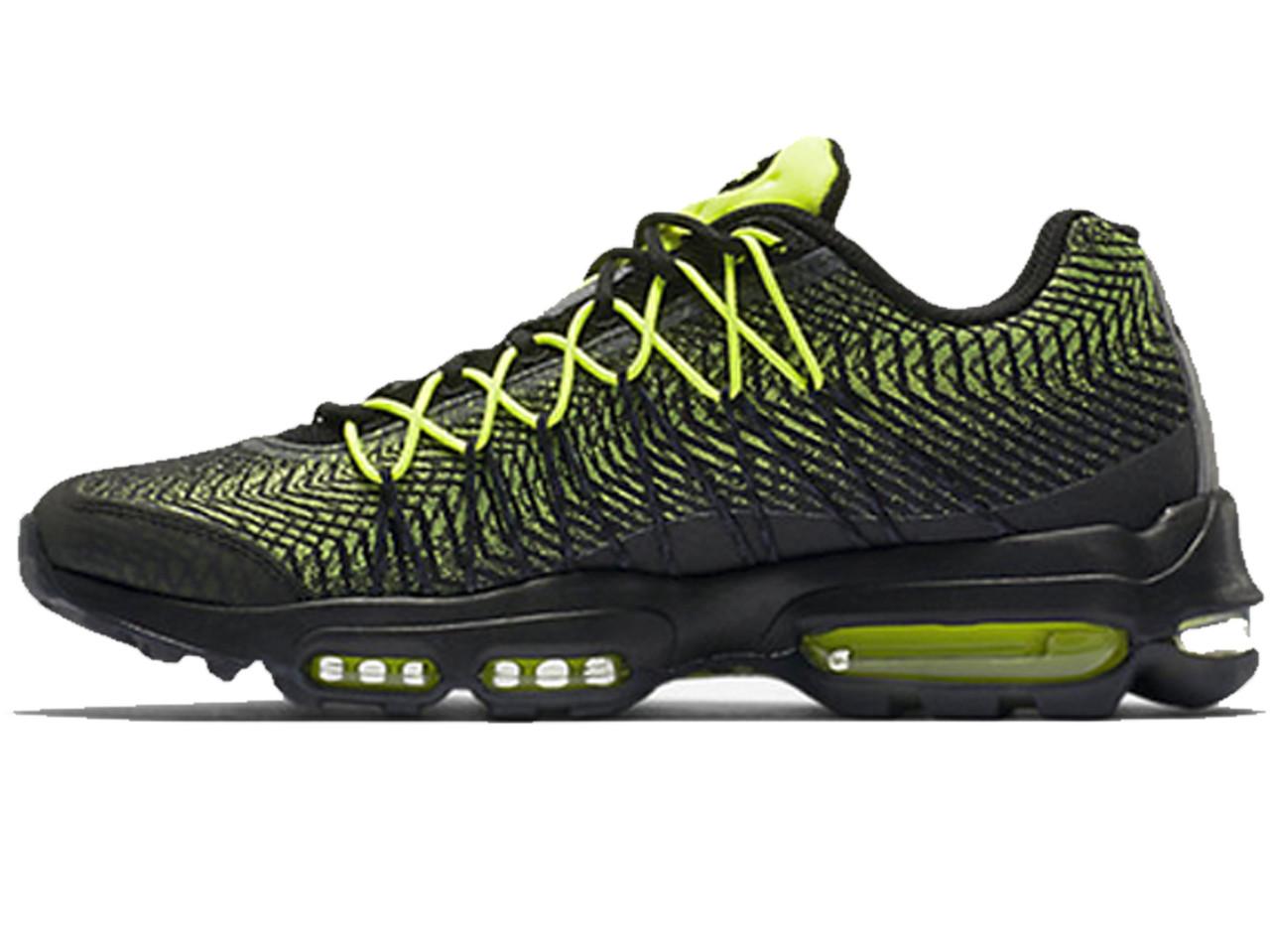 287e6358 Мужские кроссовки Nike Air Max 95 Ultra Jacquard Green/Black (Реплика ААА+)