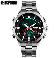 Мужские наручные часы Skmei 1146 Direct на браслете с подсветкой