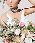 Ожерелье-чокер Камни с цветами. Колье с камнями, фото 3