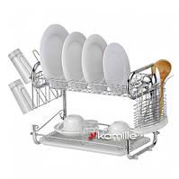 Для посуды сушилка двухъярусная 55*25*39.5см, фото 1