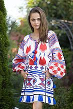 Вышиванка женская льняная с длинным рукавом
