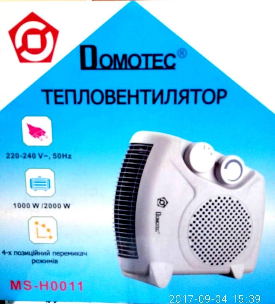 Тепловентилятор обогреватель  Domotec MS H0011