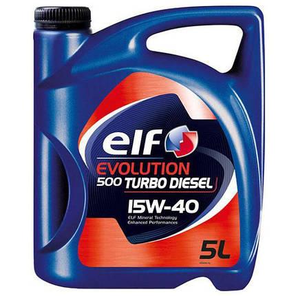 Масло Elf 15w40 Turbo Diesel 5л, фото 2