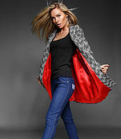 Стильное твидовое пальто S M L