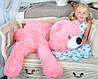 Плюшевый мишка Умка лежащий большой, розовый, 110см, фото 5