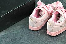 Кроссовки женские Puma Suede Bow розовые, фото 3