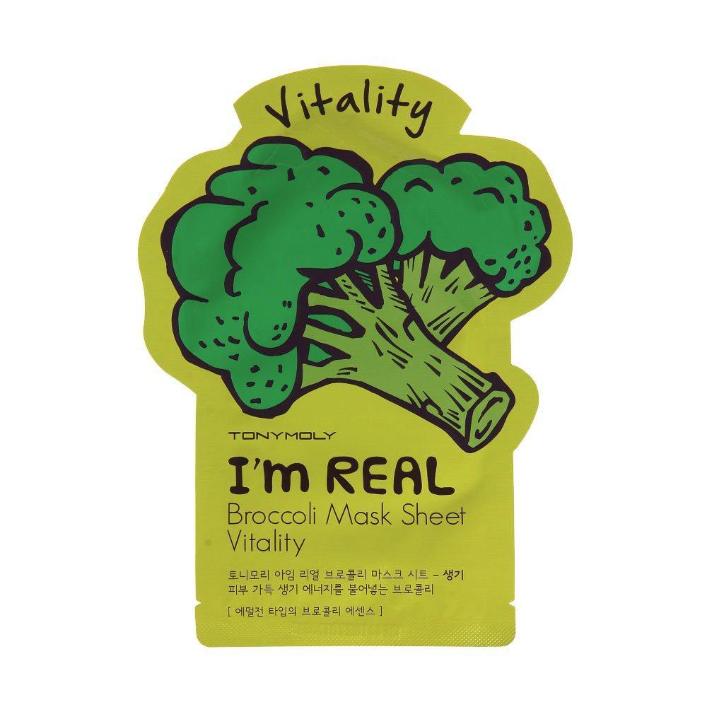 Листовая маска для лица TONYMOLY I'm real Broccoli
