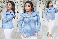 Женская стильная коттоновая рубашка