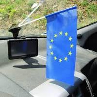 Флаг Евросоюза 15 х 20 см на присоске.