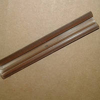 Направляющие для роликов в шкаф-купе и межкомнатные двери (пластиковая, цвет-коричневый)