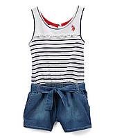 Детский комбинезон шорты для девочки US. POLO ASSN.