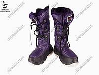 Женские дутики фиолетовые (Код: ЖББ-02)