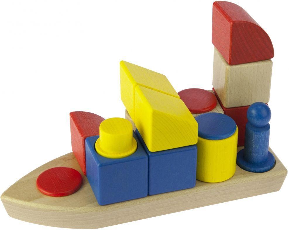 Детский деревянный  конструктор Кораблик nic NIC2131