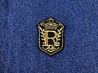 Нашивка R золотая корона / crown 40х55 мм