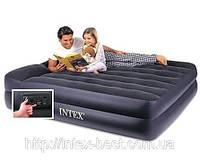 Двуспальная надувная кровать Intex 66702 (157х203х47 см.) со встроенным электрическим насосом