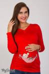 Облегающий лонгслив для беременных из вискозного трикотажа