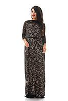 Шикарное черное платье в пол большие размеры 50-56